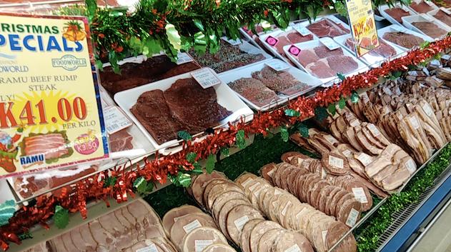 パプアのお肉売り場