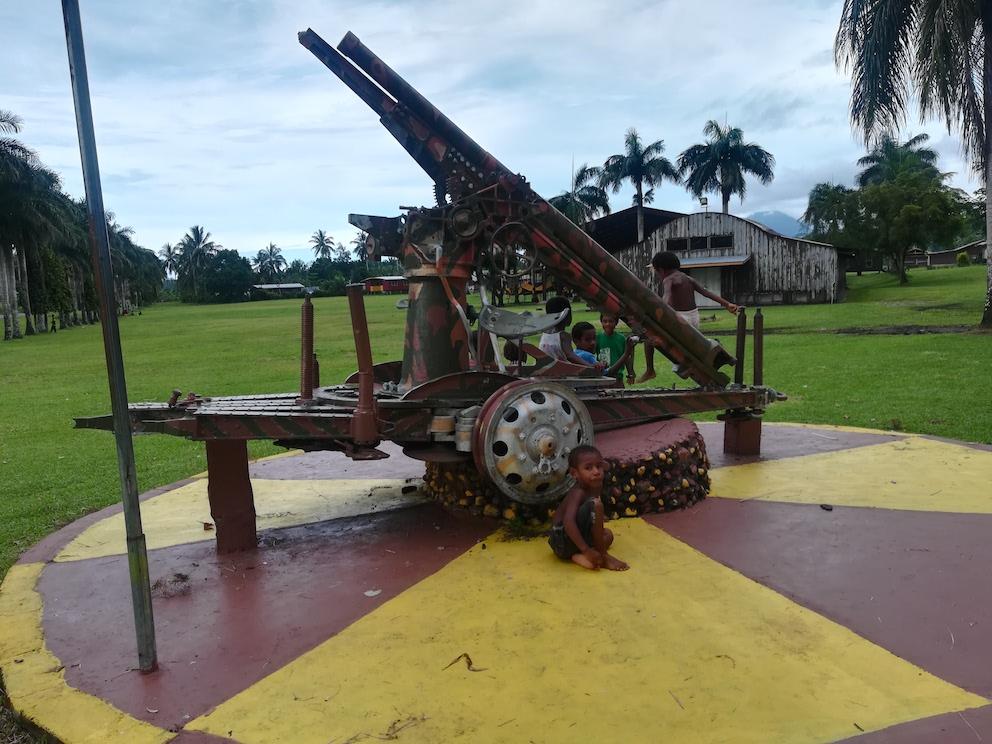 戦跡 日本軍 キャノン 大砲