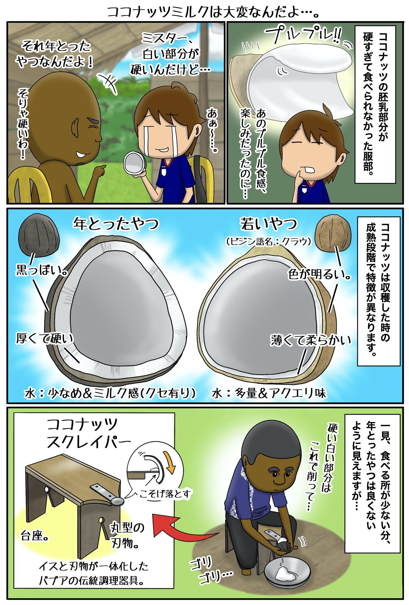 パプア マンガ 181 ココナッツミルクは大変なんだよ…。.001